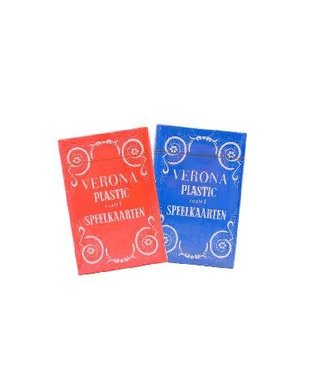 Verona Plastic Coated Playing Cards