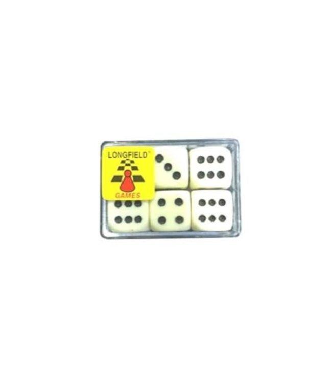 Longfield Dobbelstenen 6 in een doosje 16 mm