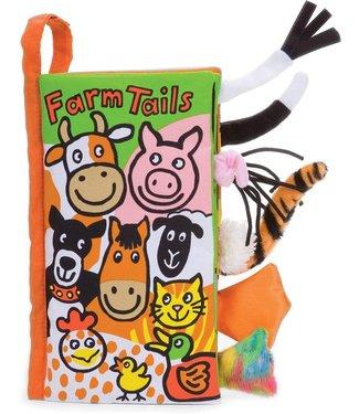 Jellycat Jellycat pluche Book Farm Tails | with sound | 21,5 cm