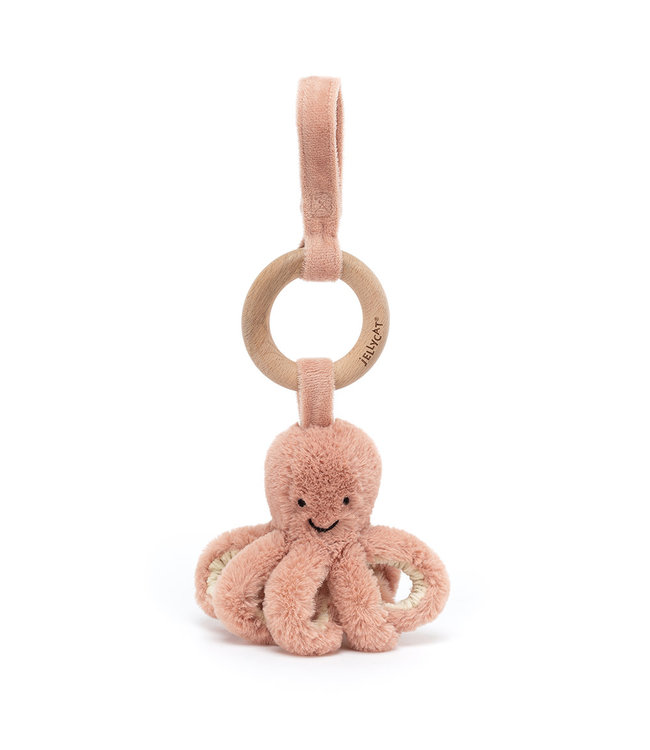 Jellycat   Odell Octopus   Wooden Ring Toy   21 cm   0+