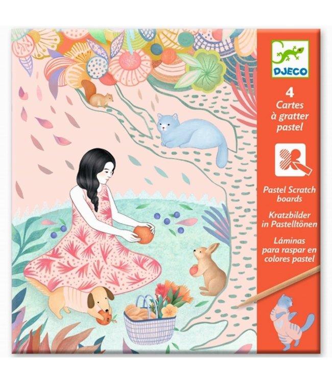 Djeco | Scratch Cards | Pastel | Picknick | 7-13 jaar