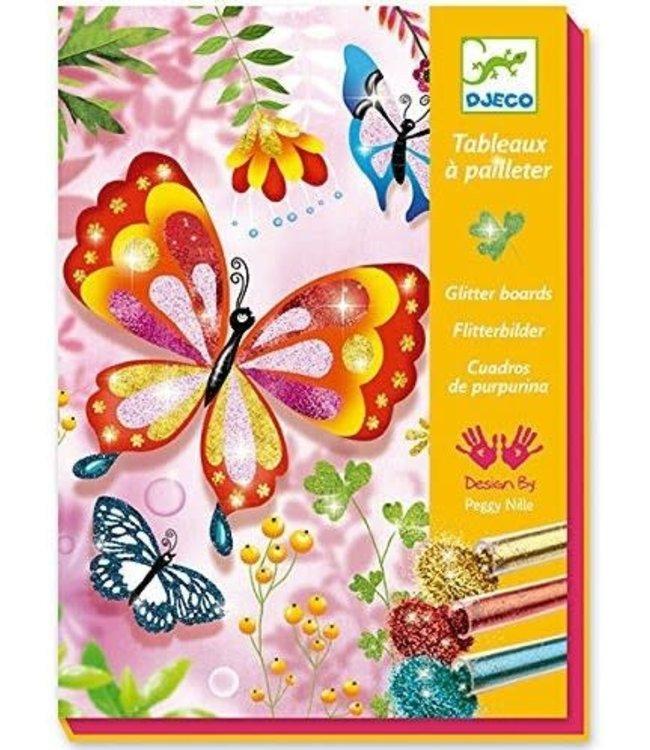 Djeco | Glitter Schilderijen | Vlinders met Glittertjes | 7-13 jaar