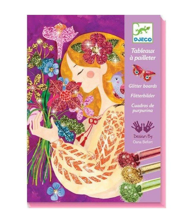 Djeco | Glitter Schilderijen | de Geur van Bloemen | 7-13 jaar