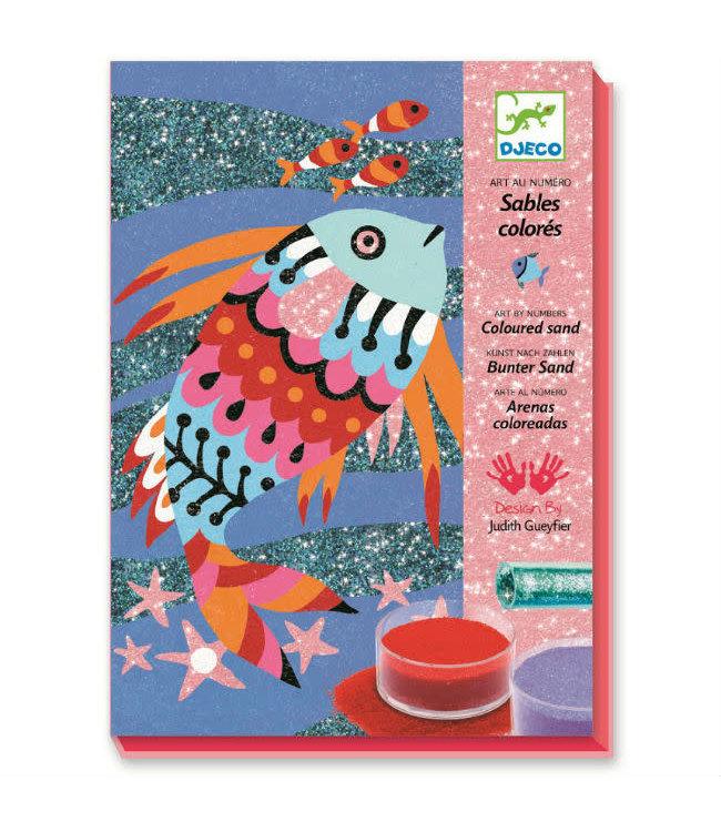 Djeco | Gekleurd Zand | Regenboog Vissen | 6-11 jaar