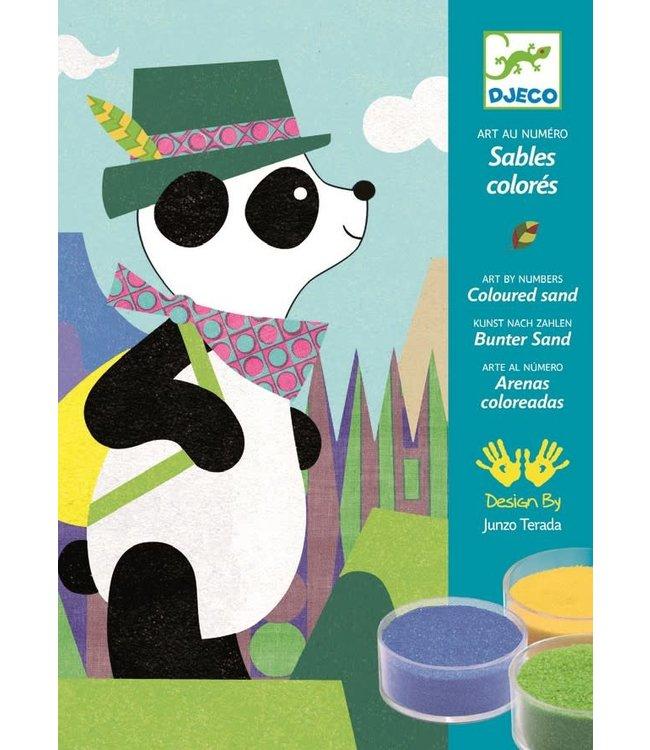 Djeco | Gekleurd Zand | Panda en Vriendjes | 4-8 jaar