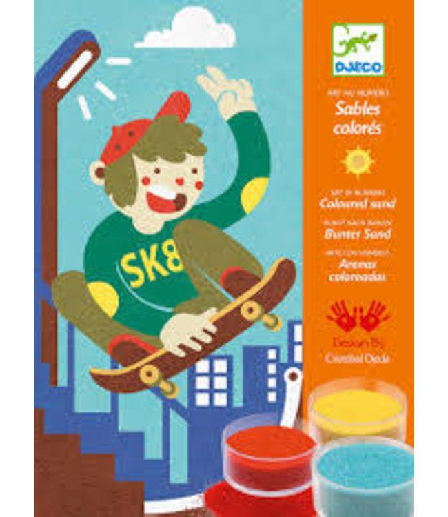 Djeco | Gekleurd Zand | Skate Plezier | 6-11 jaar