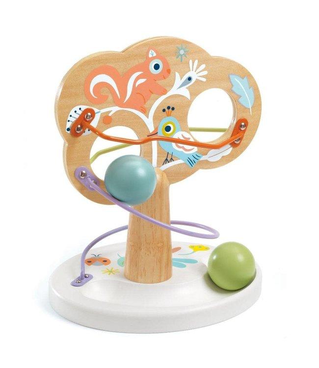 Djeco | Houten Knikkerbaan | Baby Tree | +18 mnd