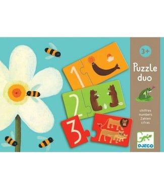 Djeco Djeco | Duo Puzzel | Cijfers | 20 delig | 3+