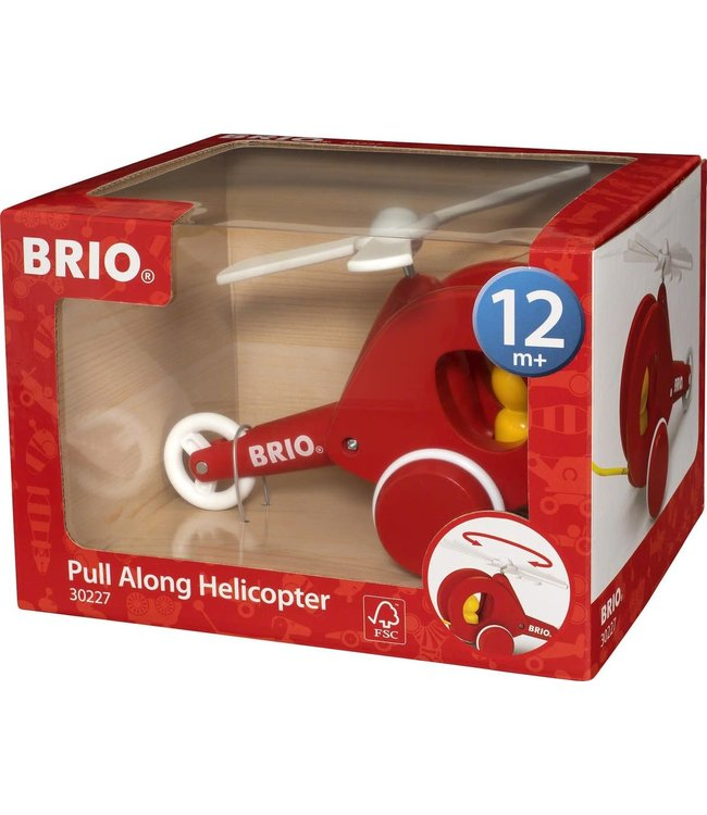 Brio Pull Along Helicopter 1+