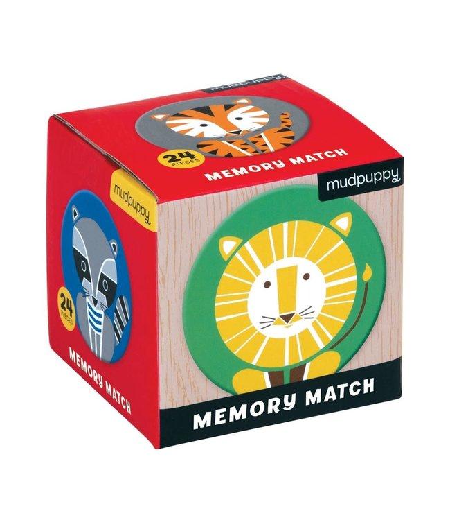 Mudpuppy Mini Memory Game Geometric Animals 24 dlg  3+