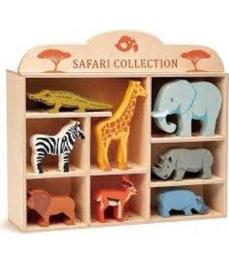 Tender Leaf Toys Tender Leaf Toys Set Wooden Safari Animals 3+