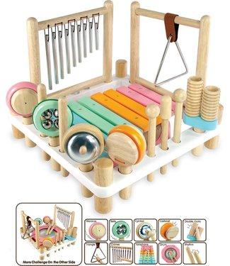 I'm Toys I'm Toys Melody Mix Houten Muziekcenter Pastel met 10 instrumenten  3+
