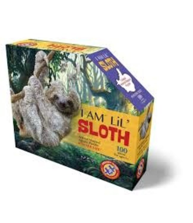 I Am Animal Shaped Jigsaw Puzzle Sloth 100 pcs  10+