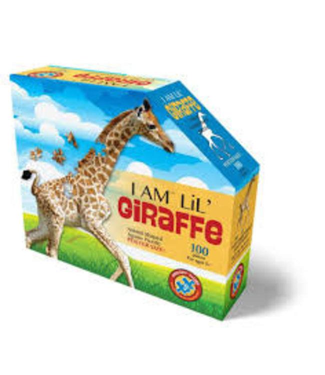 I Am Animal Shaped Jigsaw Puzzle Giraffe 100 pcs  10+