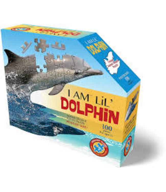 I Am Animal Shaped Jigsaw Puzzle Dolphin 100 pcs  10+