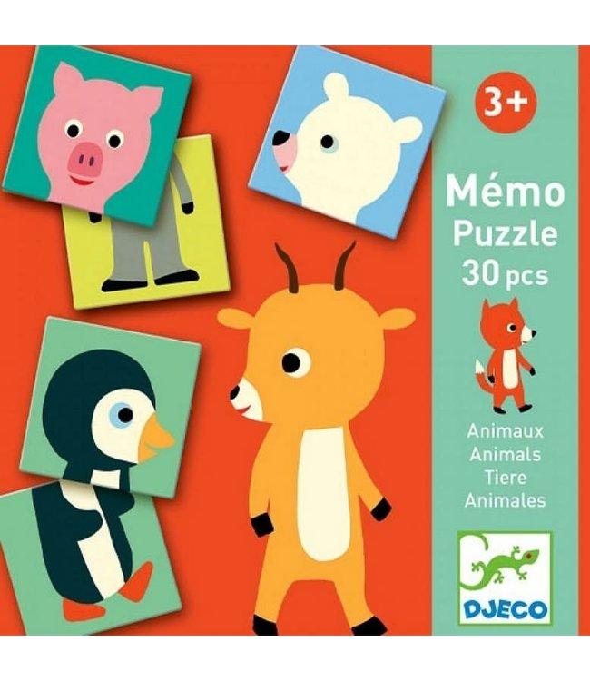 Djeco   Memo Puzzle   30 delig   Animo   3+
