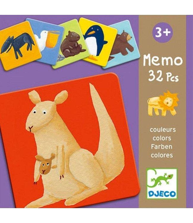 Djeco | Memo | Colour Animals | 32 delig | 3+