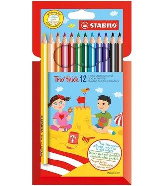 Stabilo Stabilo | Kleurpotloden | Trio Dik 12 Kleuren