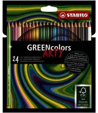 Stabilo Stabilo Green Colors ARTY etui 24 kleuren