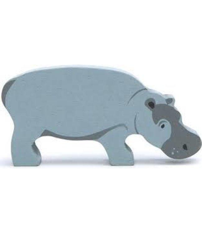 Tender Leaf Toys Houten Safaridier Nijlpaard 3+