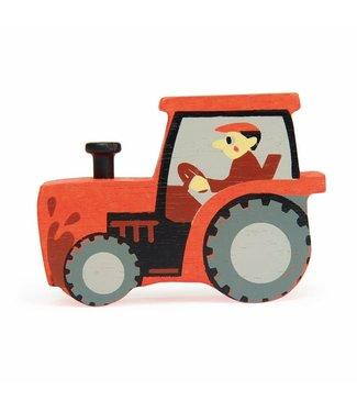 Tender Leaf Toys Tender Leaf Toys Houten Boerderijdier Tractor 3+