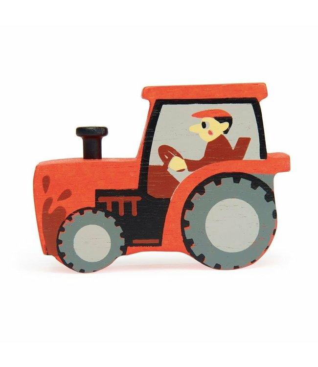 Tender Leaf Toys Houten Boerderijdier Tractor 3+