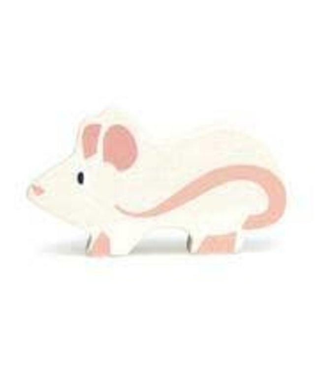 Tender Leaf Toys Houten Boerderijdier Muis 3+