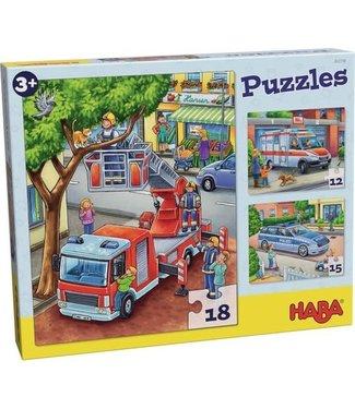 Haba Haba Puzzels Politie, Brandweer, Hulpverlening 3+