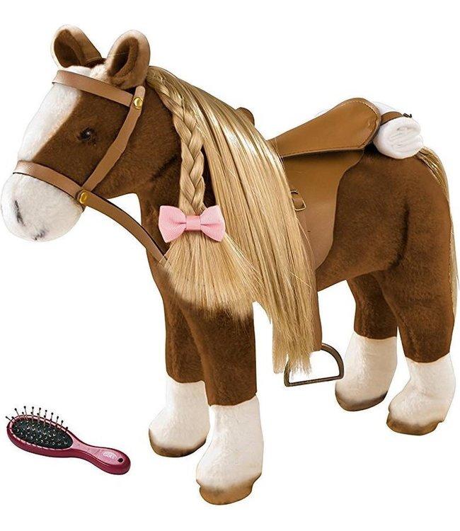 Gotz Brown Plush Horse Hoogte 37 cm 3+