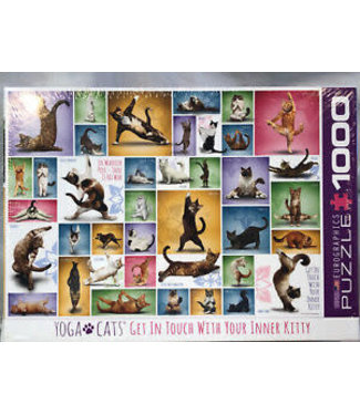 Eurographics Eurographics Yoga Cats  1000 stukjes