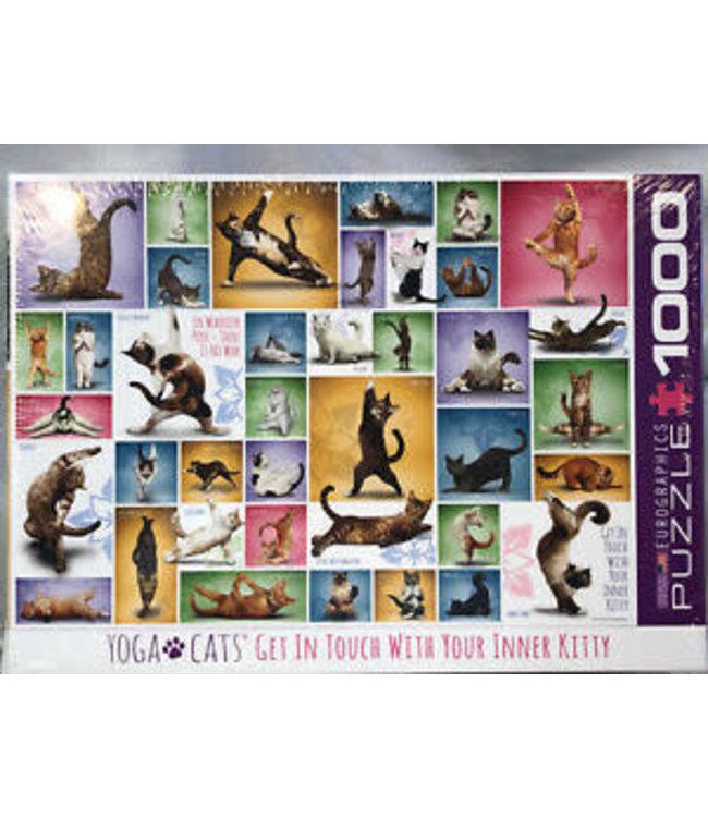 Eurographics Yoga Cats  1000 stukjes