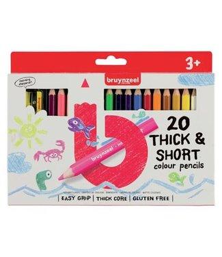 Bruynzeel Bruynzeel Kortjakjes set 20 kleurpotloden 3+