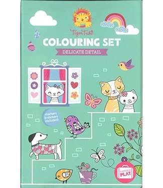 Tigre Tribe Tiger Tribe Colouring Sets Delicate Detail 5+