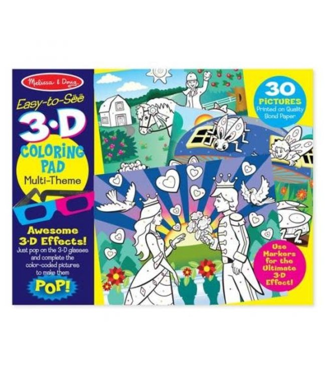 Melissa and Doug 3D Coloring Book Girl  3+