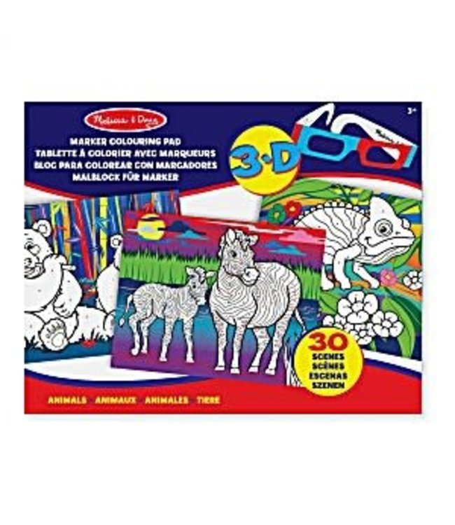 Melissa and Doug 3D Coloring Book Animals  3+