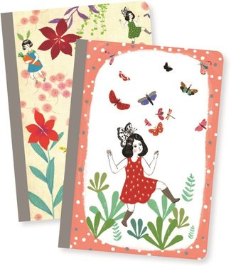 Djeco Djeco   Lovely Paper Two Small Notebooks   Chichi
