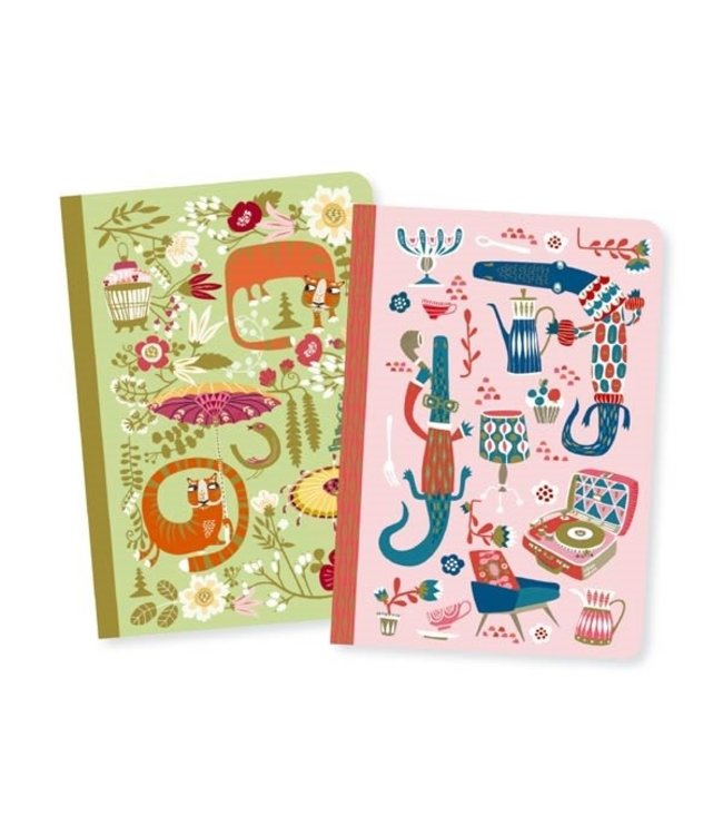 Djeco | Lovely Paper | Two Small Notebooks | Asa