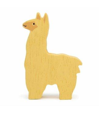 Tender Leaf Toys Tender Leaf Toys Houten Boerderijdier Alpaca 3+