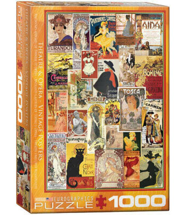 Eurographics Theatre & Opera Vintage Posters 1000 stukjes