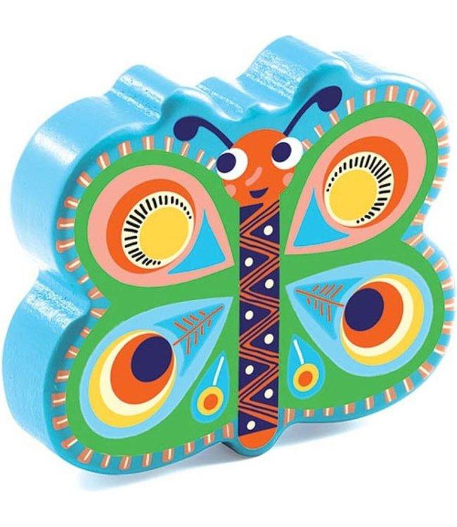 Djeco | Animambo | Wooden Maracas | Papillon
