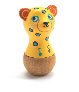 Djeco Djeco Wooden Maracas Jaguar 1+