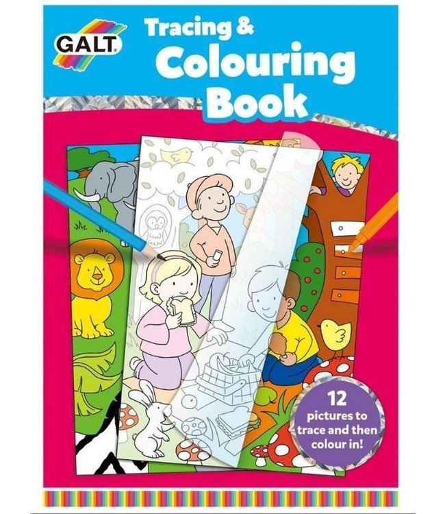 Galt Tracing and Colouring Book 3+