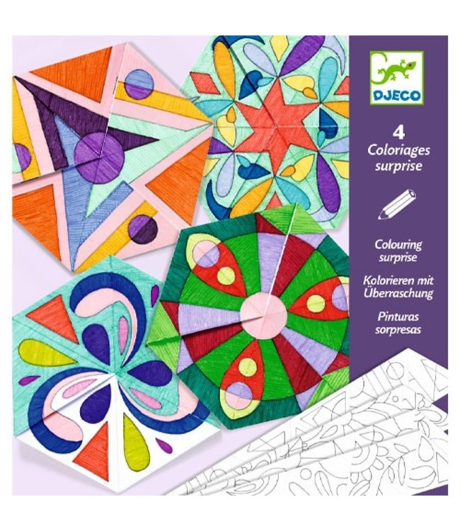 Djeco | Colouring Surprises | Rosette Mandalas | 4 delig | 6-9 jaar