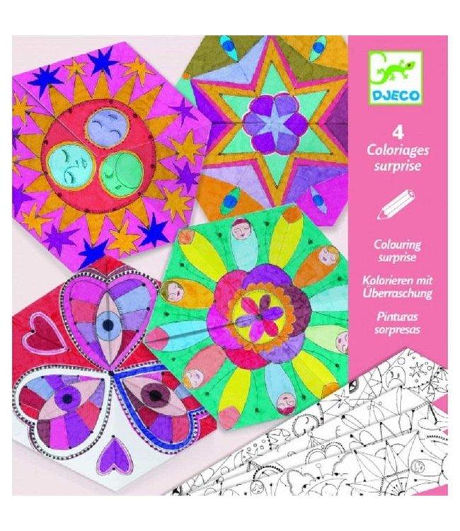 Djeco | Colouring Surprises | Constellation Mandalas | 4 delig | 6-9 jaar