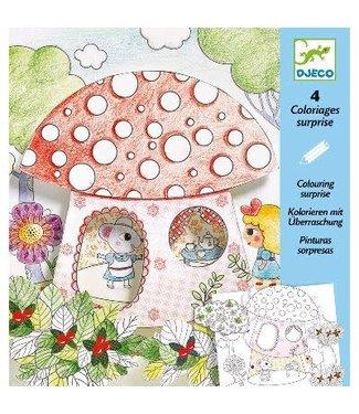 Djeco Djeco | Colouring Surprises | Klein Duimpje | 4 delig |  6-9 jaar
