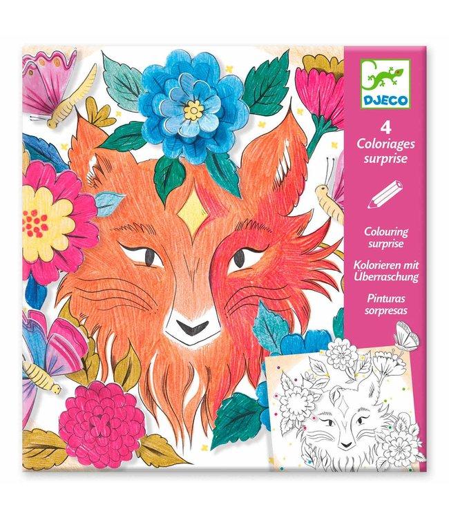 Djeco | Colouring Surprises | Forest Friends | 4 delig |  6-9 jaar