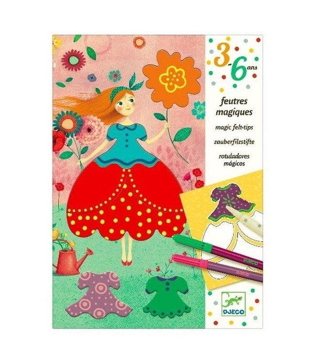 Djeco | Magische Viltstiften | Marie's Pretty Dresses | 3-6 jaar