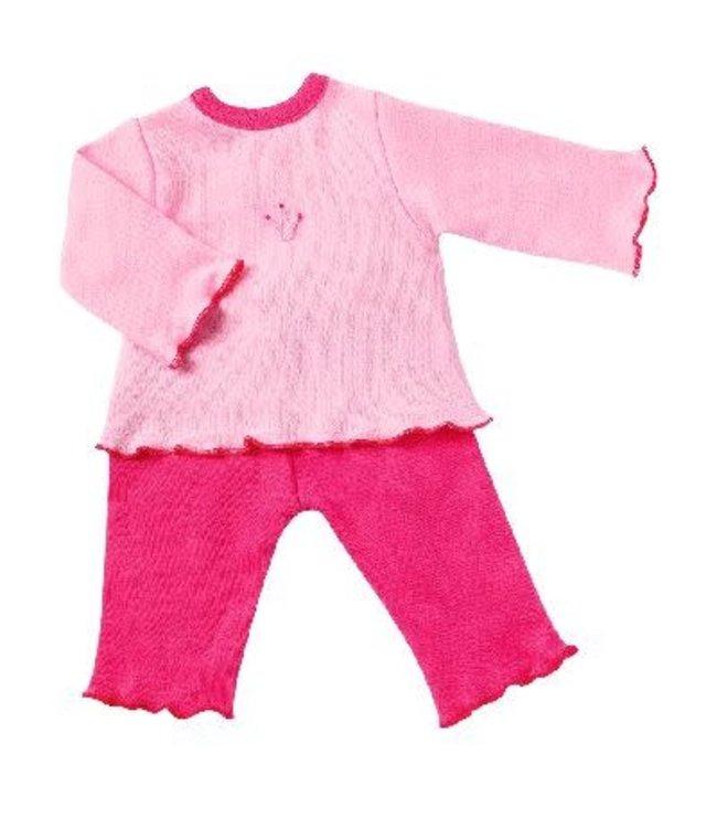 Poppenkleding Roze pyjama maat 38 (Bebito/Soy Tu)