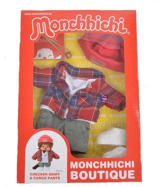 Monchhichi Monchhichi Boutique B Shirt geruit met werkbroek