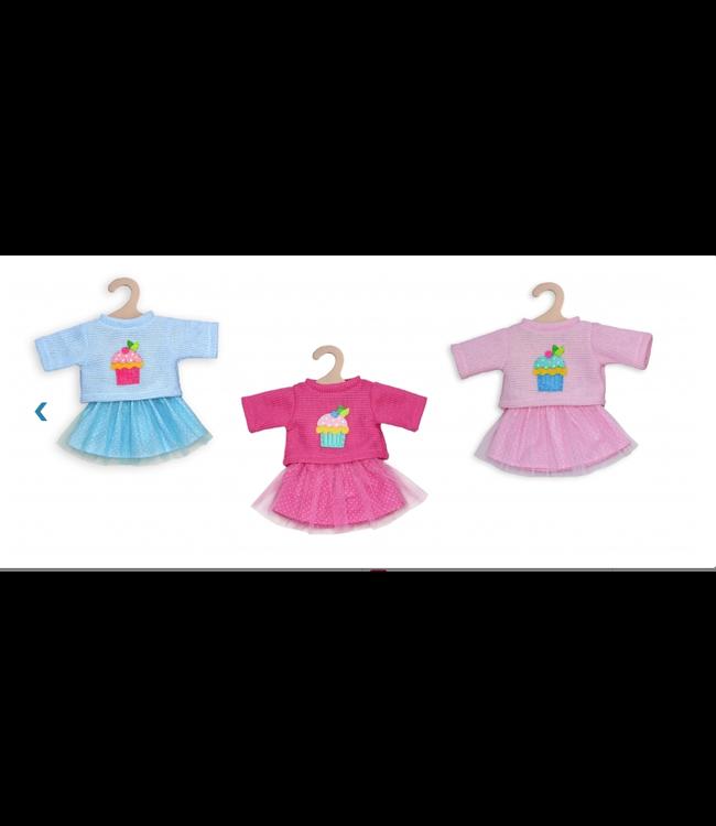 Heless Poppenkleding Rok met Pullover maat 28-35 cm